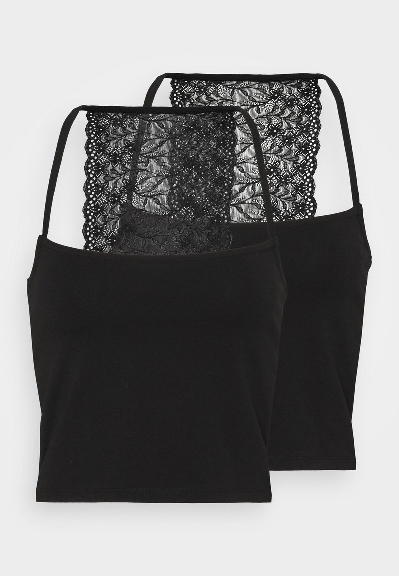 Pieces - PCNANLA CROPPED 2 PACK - Top - black