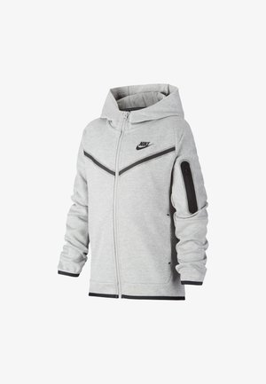 Zip-up hoodie - dark grey heather/black