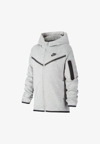 Zip-up sweatshirt - dark grey heather/black