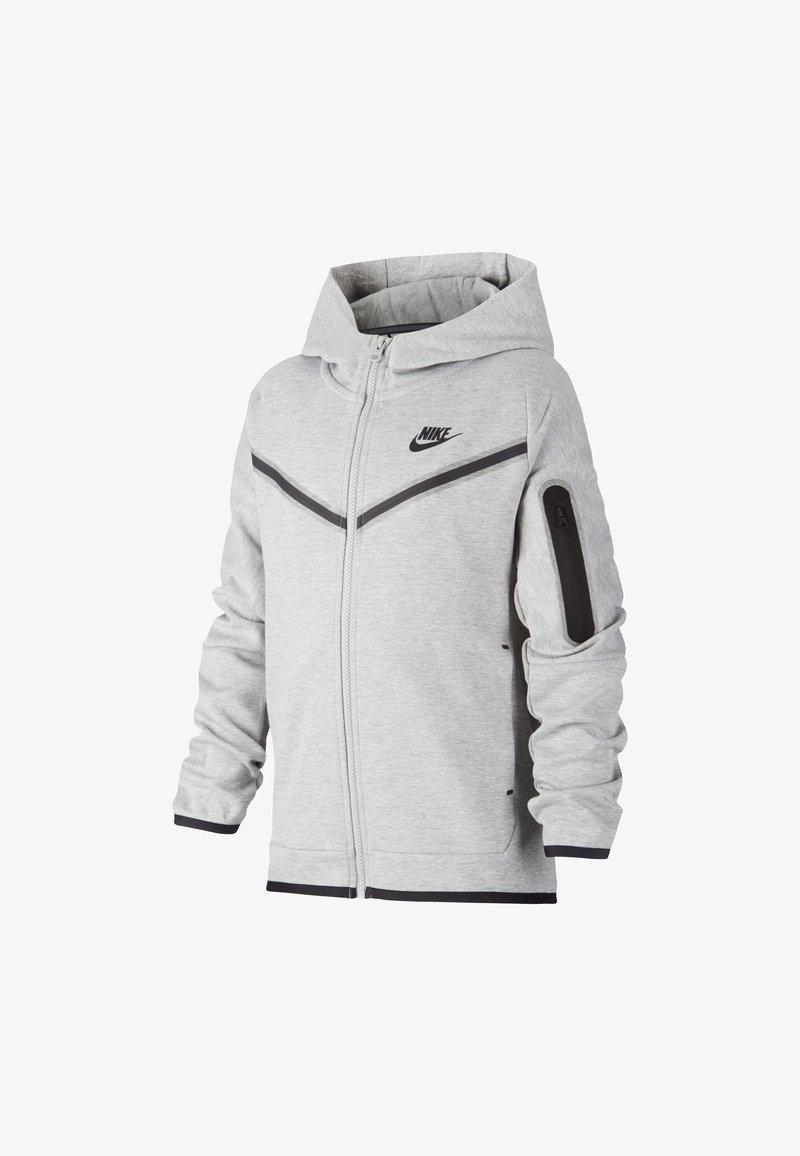 Nike Sportswear - Felpa con zip - dark grey heather/black