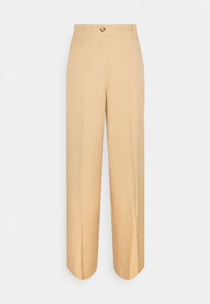 WIDE SUIT PANTS - Broek - camel