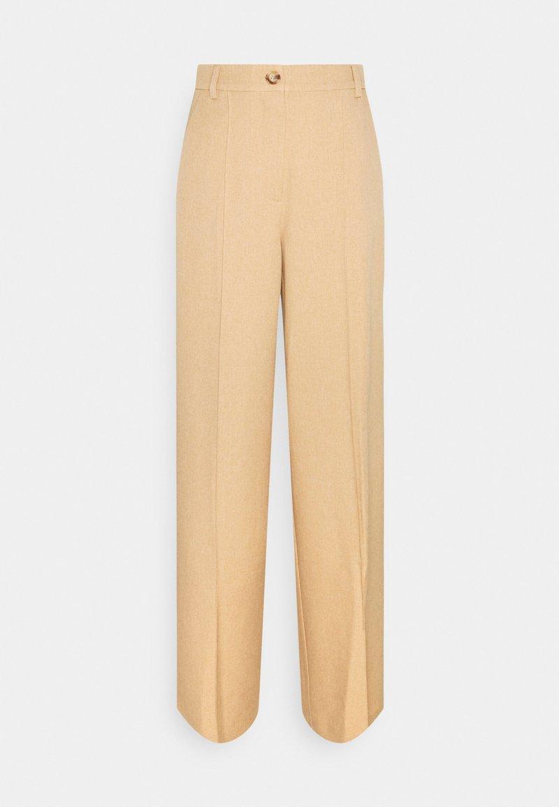 NA-KD Tall - WIDE SUIT PANTS - Pantaloni - camel