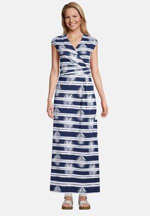 Maxi dress - deep sea navy palm stripe