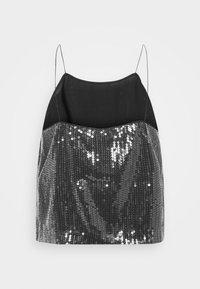 Calvin Klein Jeans - SEQUIN LOGO STRAP  - Linne - black - 7
