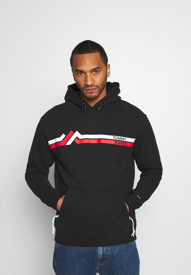 STRIPE MOUNTAIN - Hoodie - black