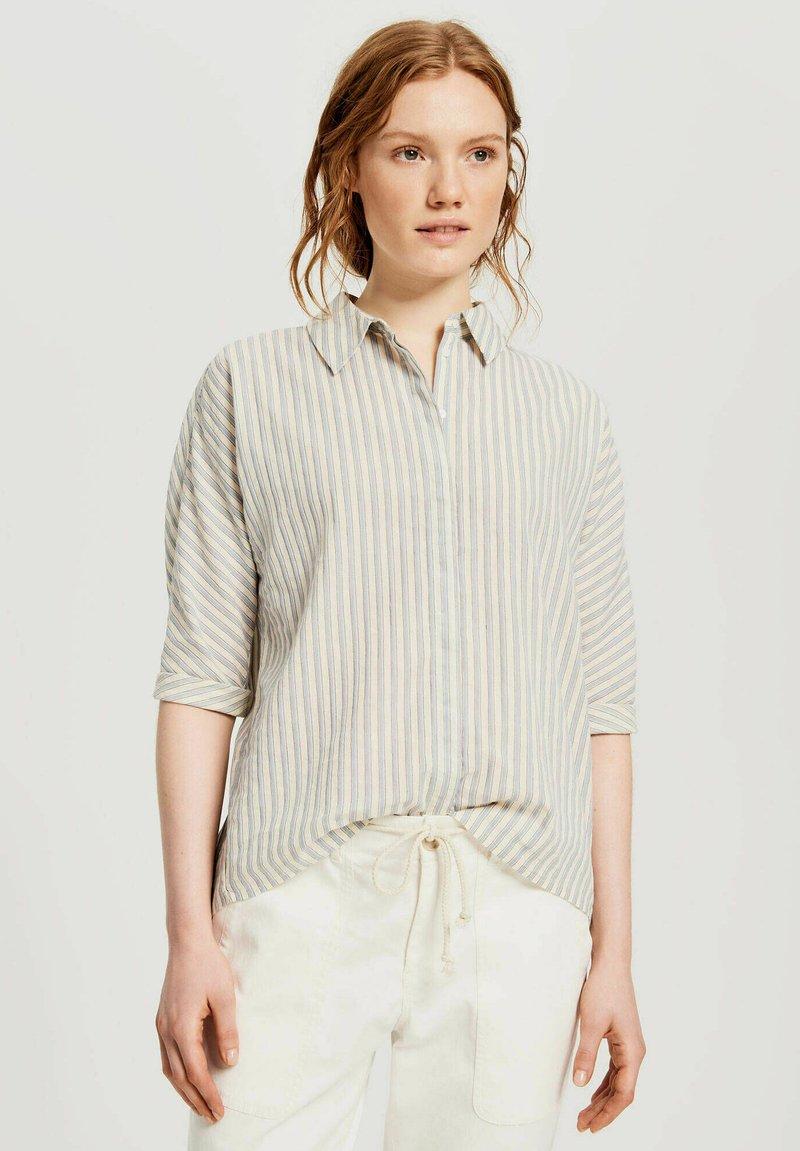 Opus - FRONA - Button-down blouse - bleu