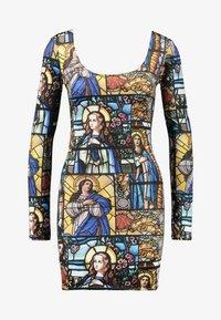 NEW girl ORDER - HOLY PRINT BODYCON DRESS - Pouzdrové šaty - multi - 4