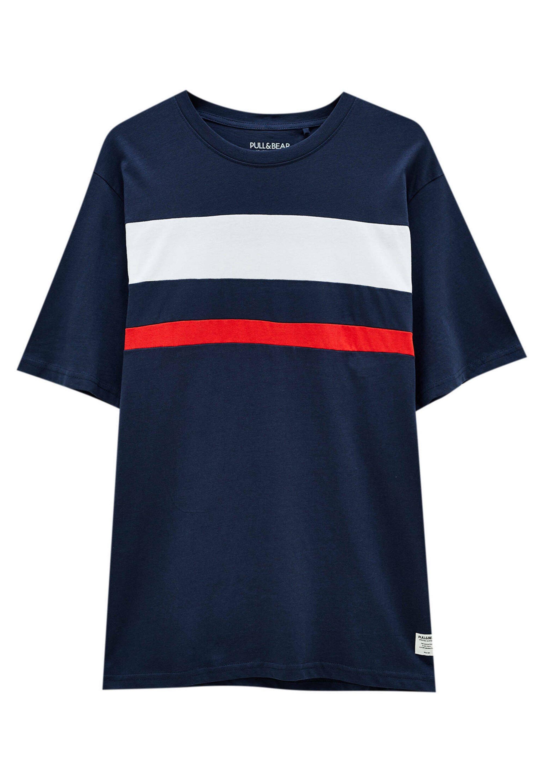 Herren DOPPELTEM COLOUR-BLOCK - T-Shirt print