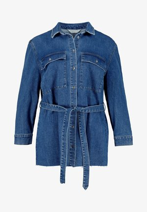 Button-down blouse - bleu jean