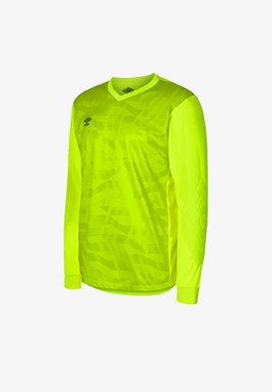 Long sleeved top - gelbgruen