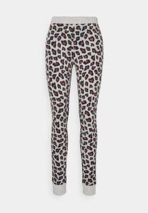 LEGGING LEOPARD - Nattøj bukser - grey