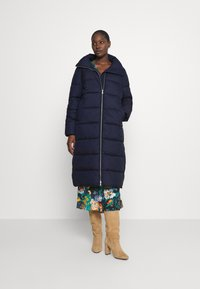 Marc O'Polo DENIM - LONG PUFFER COAT - Winter jacket - scandinavian blue - 0