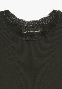 Rosemunde - SILK-MIX T-SHIRT REGULAR LS W/LACE - Langærmede T-shirts - dark green - 3