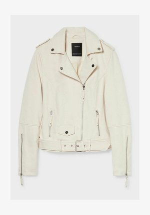 Faux leather jacket - off-white