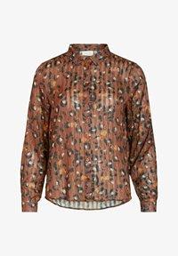 Vila - Button-down blouse - tobacco brown - 4