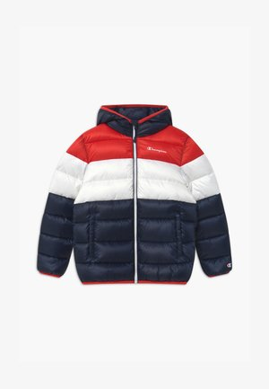 COLOR BLOCK UNISEX - Winter jacket - dark blue/white/red