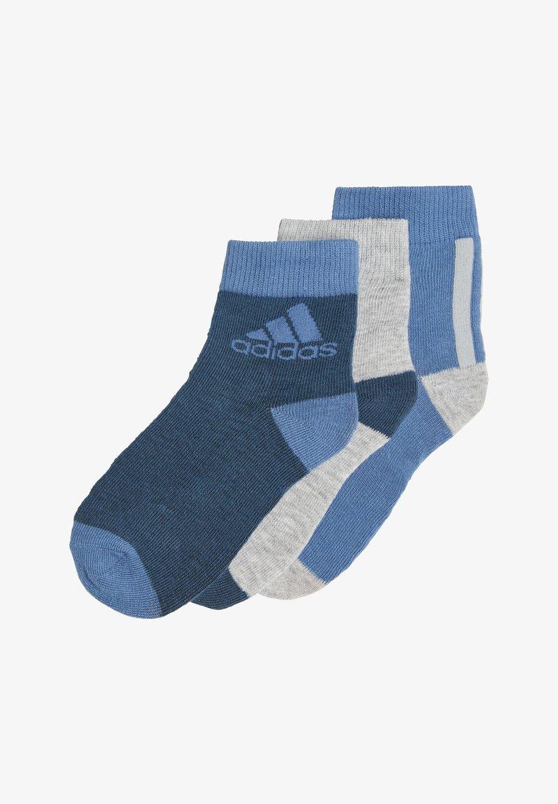 adidas Performance - 3er PACK - Football socks - blau