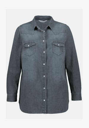 Overhemdblouse - hellgrau denim