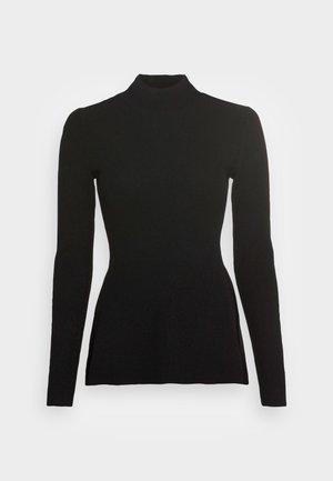 SIDE DRAPE - Long sleeved top - black