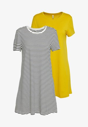 ONLMAY LIFE POCKET DRESS 2 PACK - Jerseyjurk - golden spice/cloud dancer/night