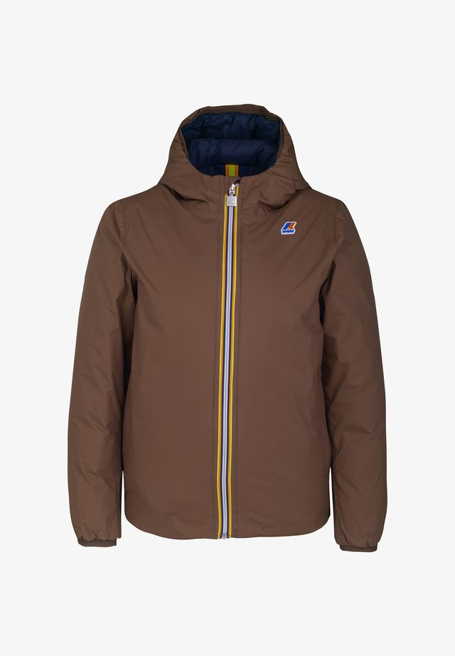 Down jacket - brown-blue maritime