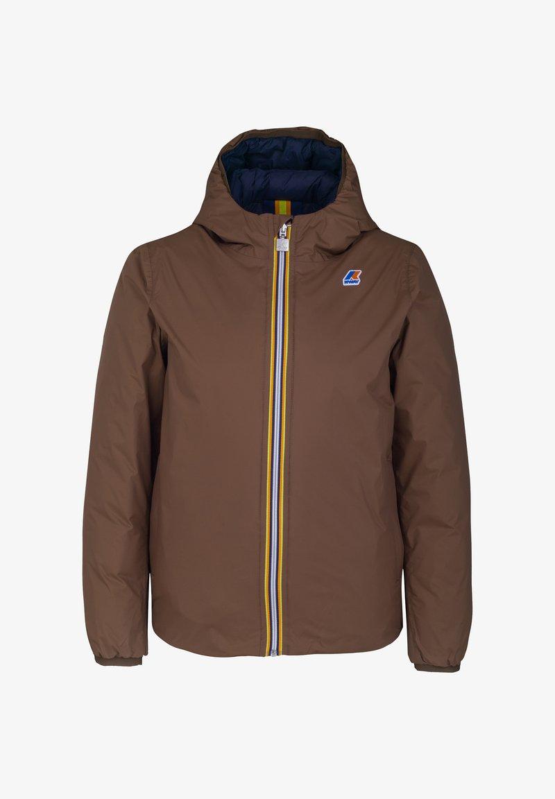 K-Way - Down jacket - brown-blue maritime
