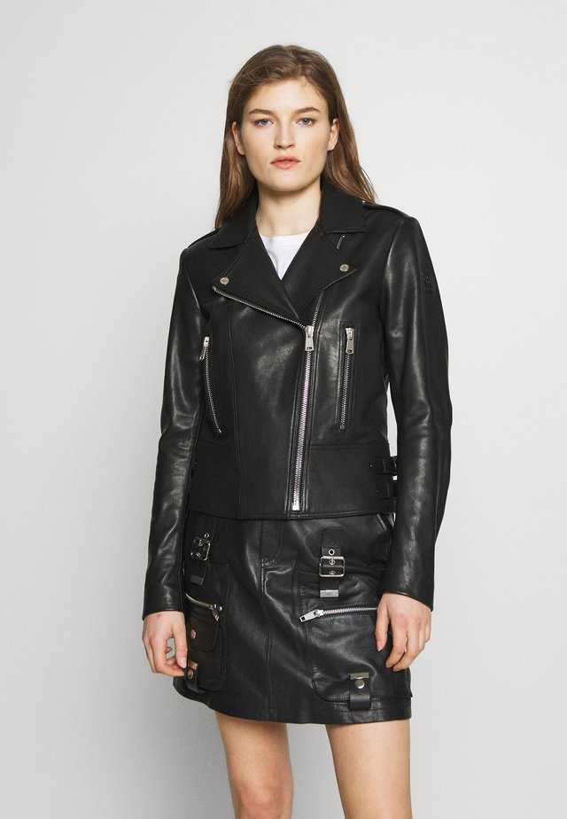 MARVINGT - Veste en cuir - black