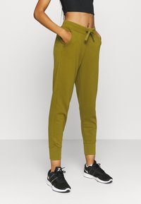 Nike Performance - DRY GET FIT  - Tracksuit bottoms - olive flak - 0