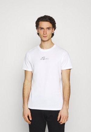 JORSCRIPTT TEE CREW NECK - T-shirt con stampa - white