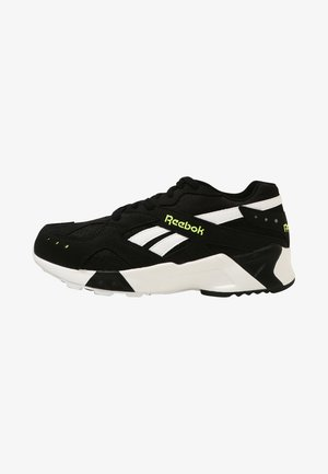 AZTREK - Sneakers - black/white/solar yellow
