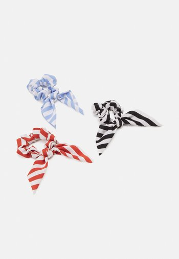 PCCICCIA BOW SCRUNCHIE 3 PACK - Hair Styling Accessory - kentucky blue/red