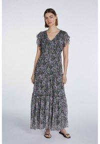 SET - Maxi dress - black violett - 0
