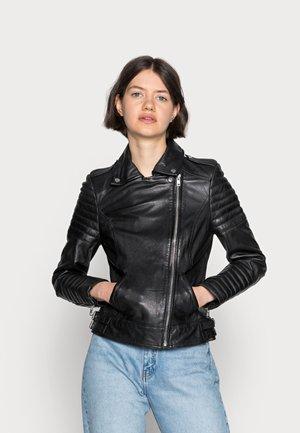 PASSENGER - Leather jacket - black