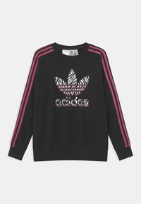 adidas Originals - ANIMAL TREFOIL  - Sweatshirts - black/pink - 0