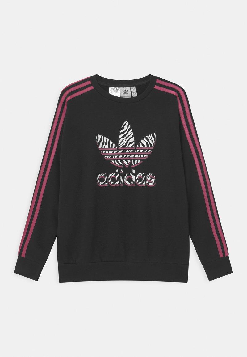 adidas Originals - ANIMAL TREFOIL  - Sweatshirts - black/pink