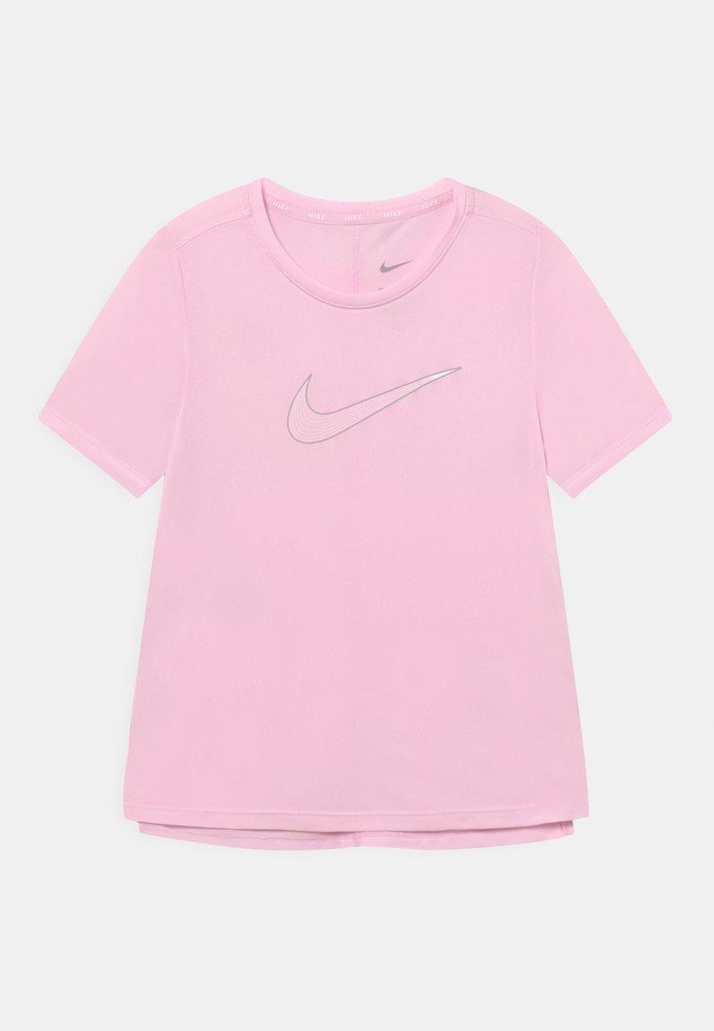 Nike Performance - ONE - T-shirt z nadrukiem - pink foam/light smoke grey