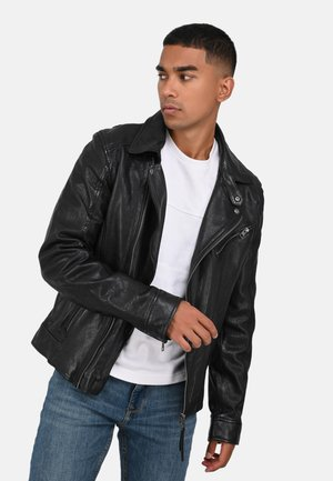 ANDY - Leather jacket - black