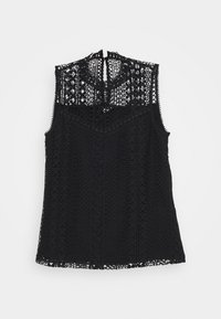 SLEEVELESS LACE BLOUSE - Blouse - black