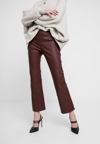 InWear - Leather trousers - bitter chocolate - 0