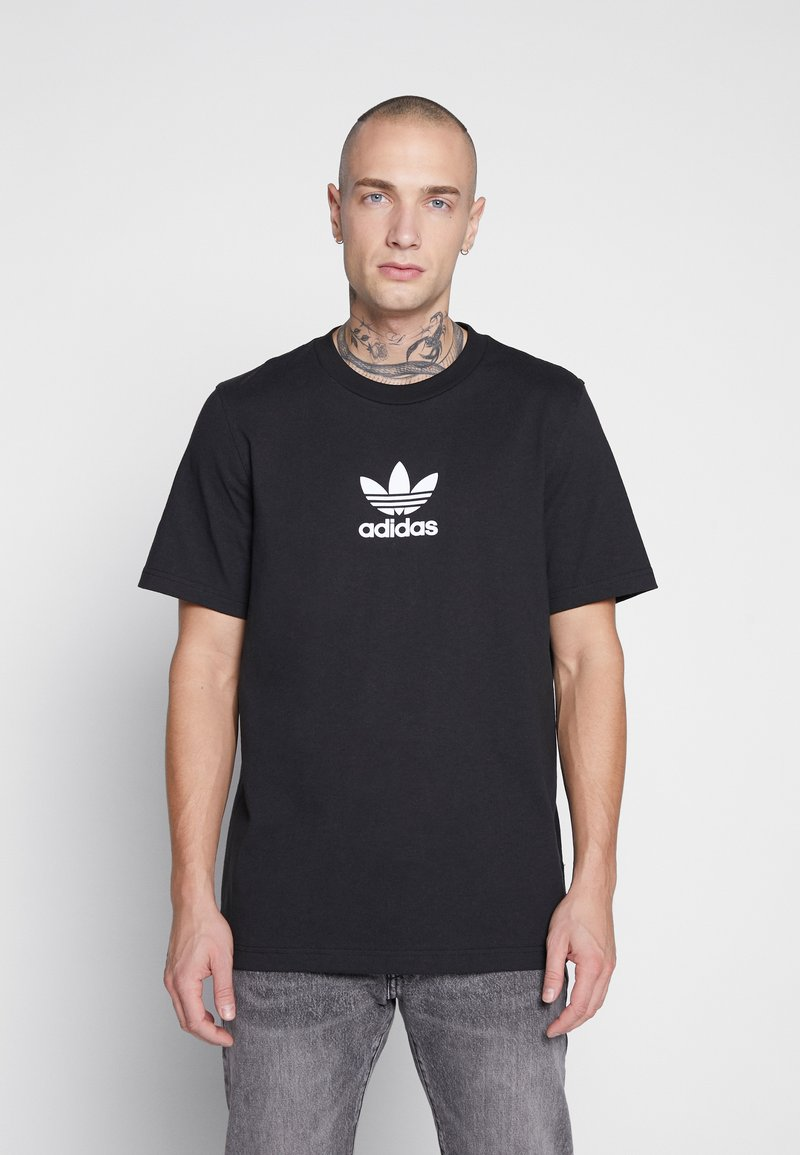 adidas Originals - ADICOLOR PREMIUM SHORT SLEEVE TEE - T-shirt imprimé - black