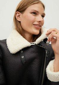 Mango - ADRI-I - Faux leather jacket - black - 6