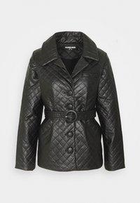 Fashion Union Petite - FINLO - Imitatieleren jas - black - 0