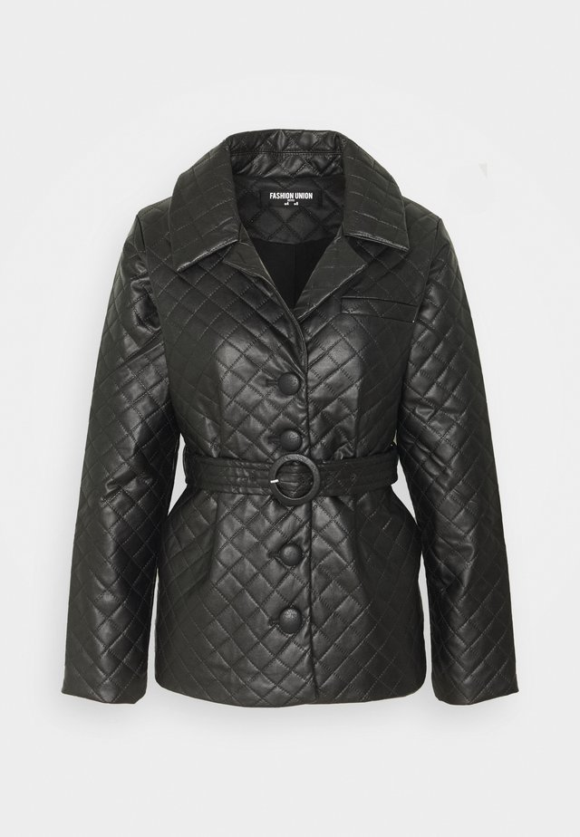 FINLO - Faux leather jacket - black