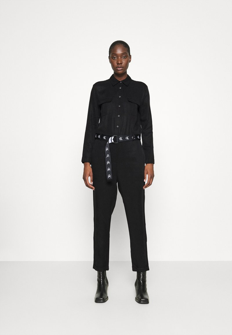 Calvin Klein Jeans - TAPERED UTILITY  - Jumpsuit - black