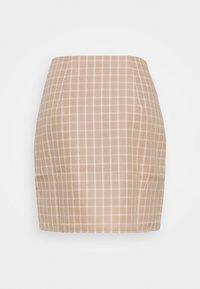 Fashion Union - JAUNE SKIRT - Mini skirt - beige/white - 1