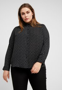 New Look Curves - HEART PRINT - Bluser - black - 0