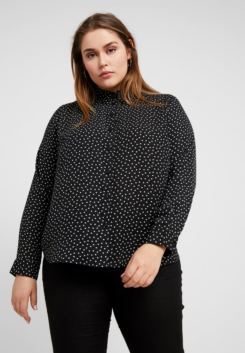 New Look Curves - HEART PRINT - Bluser - black