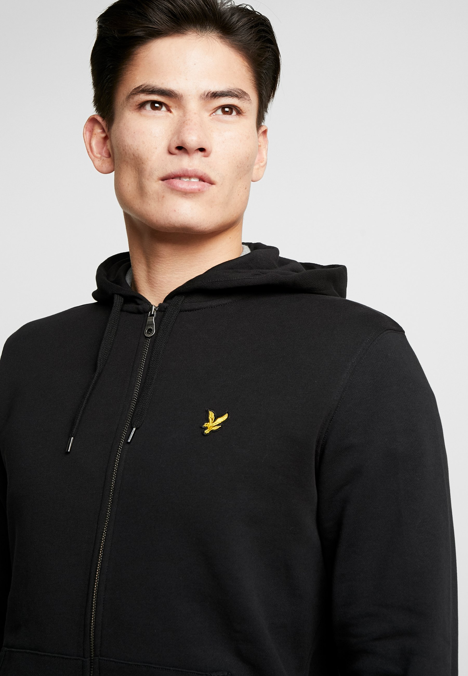 Lyle & Scott Zip Through Hoodie - Hettejakke Jet Black/svart