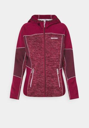 WALBURY II - Fleece jacket - beetroot/fig