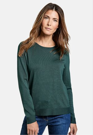 LANGARM RUNDHALS - Sweatshirt - smaragd grün